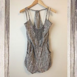 Ecote Urban Outfitters Boho Embroidered Romper